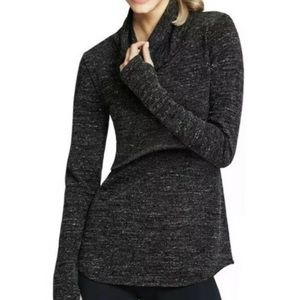 CAbi Glee Pullover #945 Small Gray Crop Top